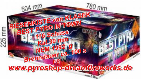 BEST PYRO IN TOWN Sofort verfügbar.