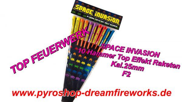 SPACE INVASION Extrem Rockets 10 Stück Spezialeffekt